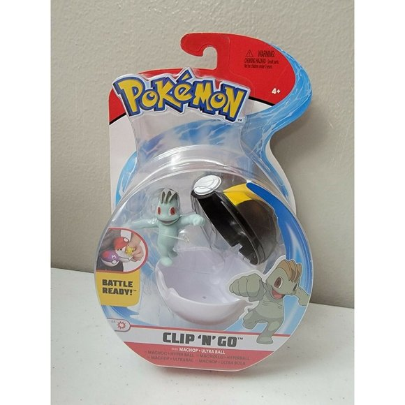 Pokemon Battle Ready Machop & Ultra Pokeball